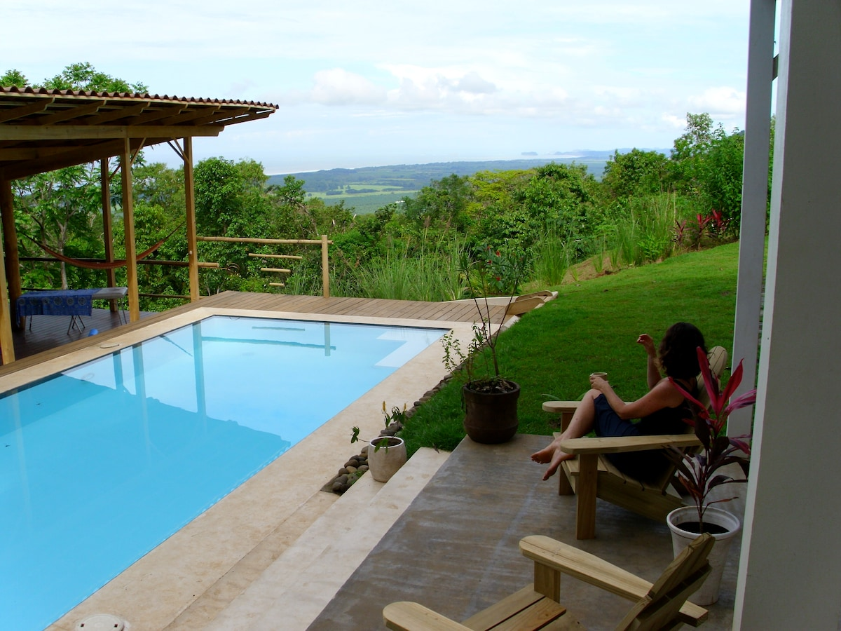 Next to Poolside bedroom (with king bed) -- white water views towards manuel antonio