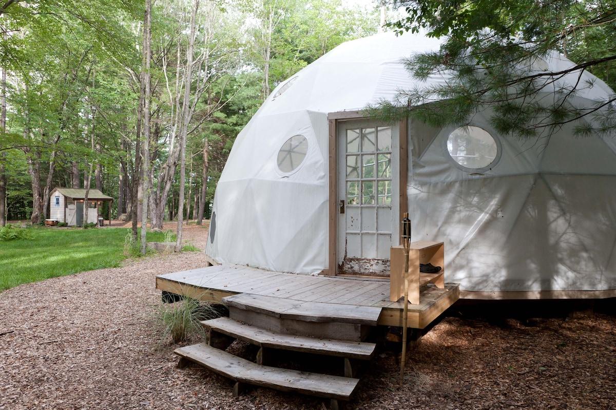 Geo Dome on Farm Upstate Catskills