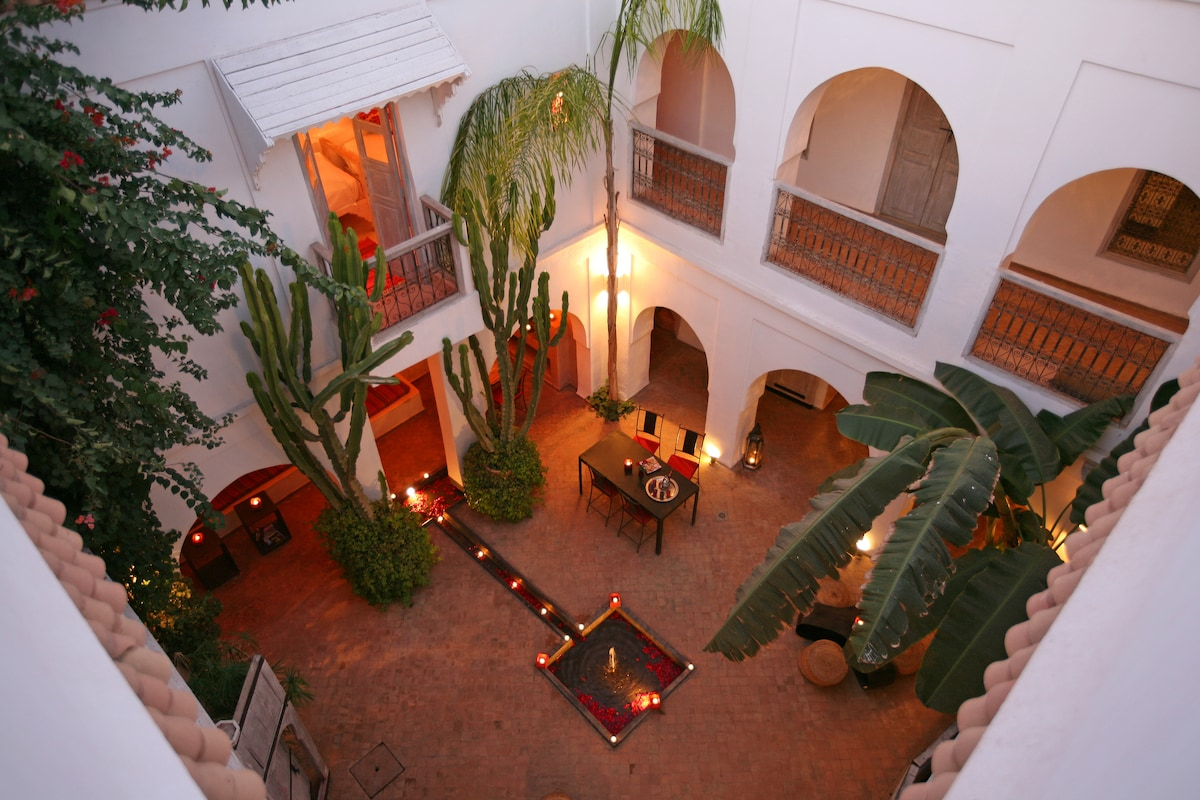 The Central Patio     at Riad O²