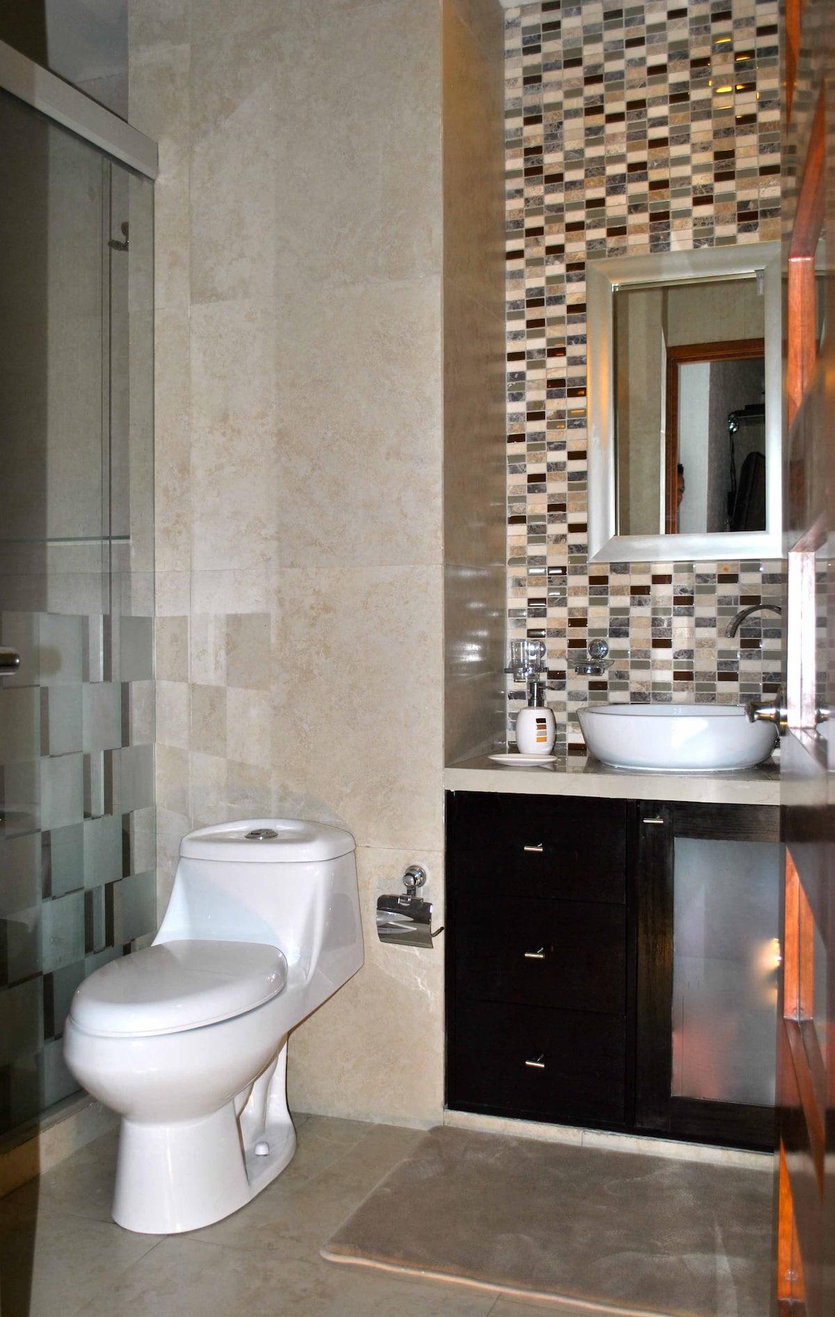 Nice, comfortable bathroom