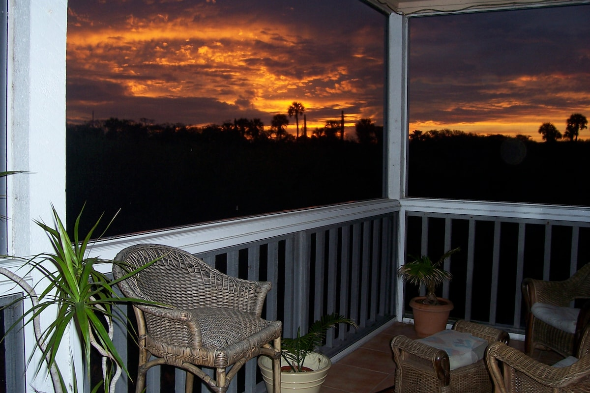 Backporch sunset