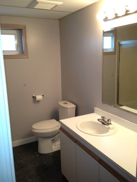 Clean and very exciting bathroom :)