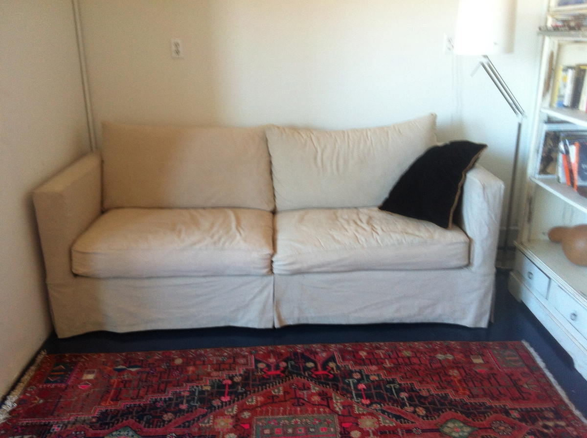 We just put this nice new couch in that folds out to a bed.