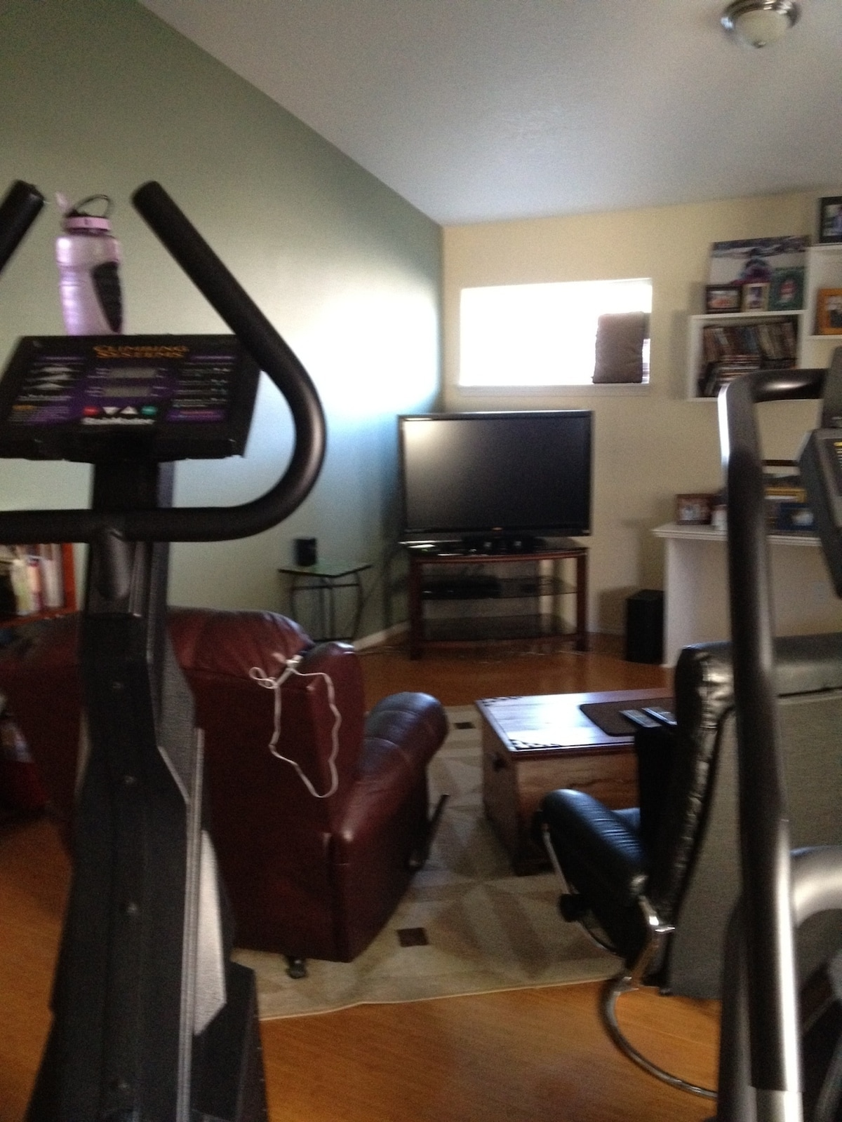 excercise and entertainment room.  Twin bed available in here also