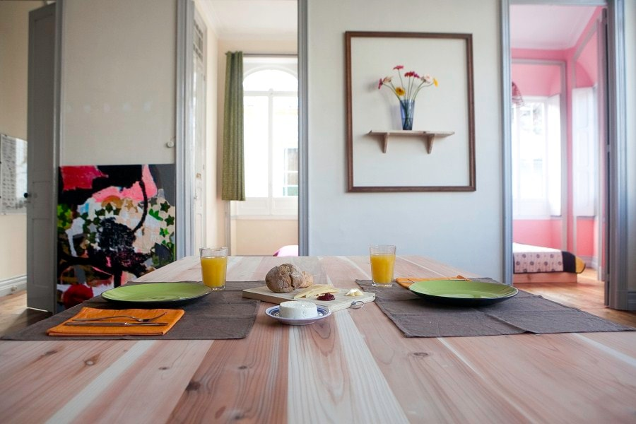 The apartment has big and comfortable living room with sofa, and dining table for 8 to 10 persons. The breakfast will be served in living room or next to your room door on the breakfast table in morning time.