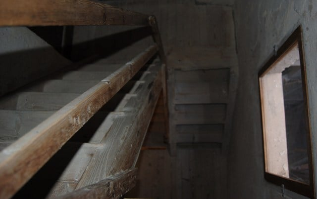 secondary stairs; end of XIX century. wood.