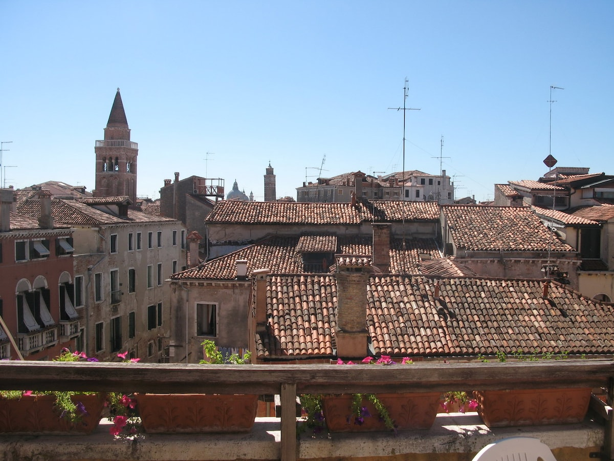 the PANORAMA from the 25 square metres terrace