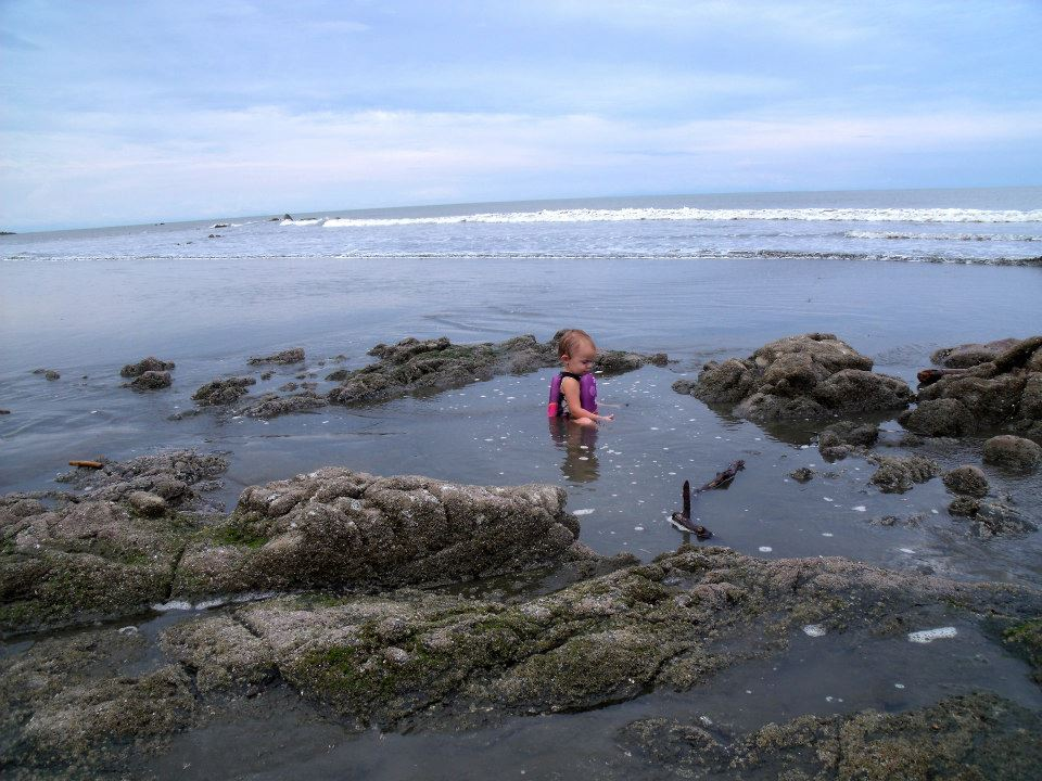 Wonderful tide pools for the little ones.