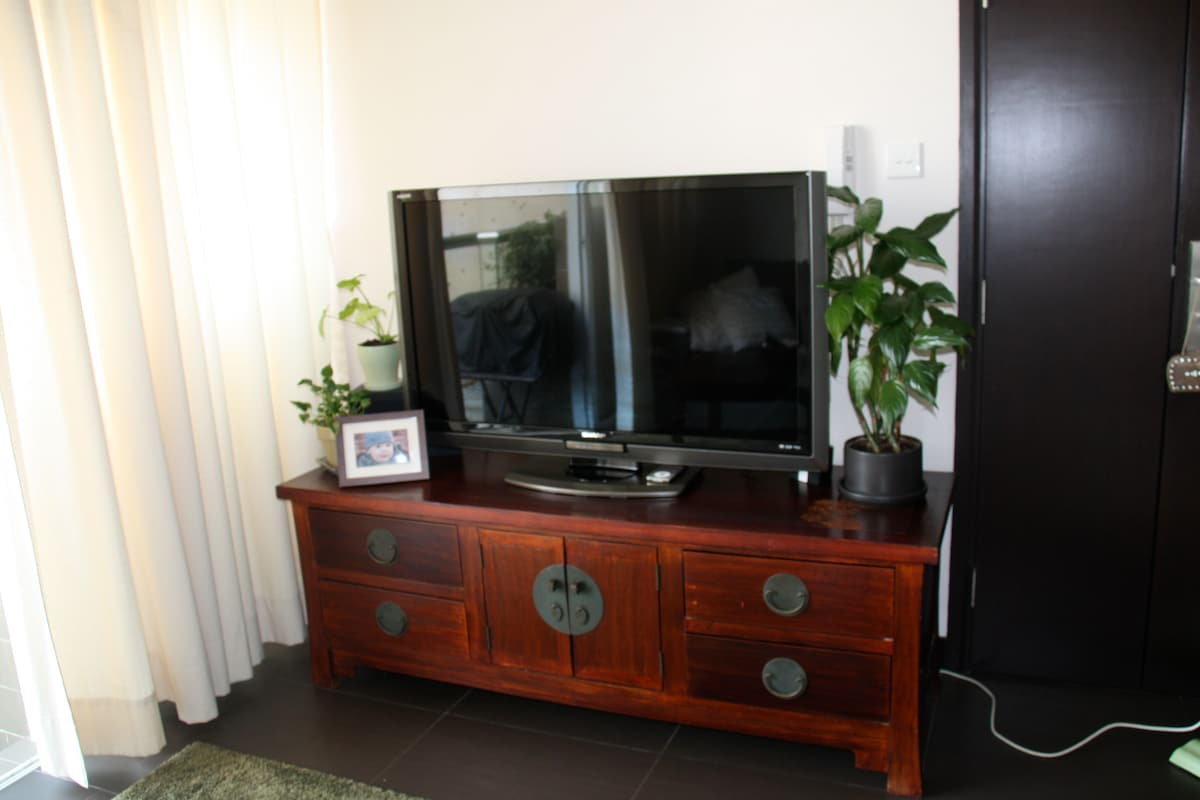 Flat Screen TV, DVD and XBox