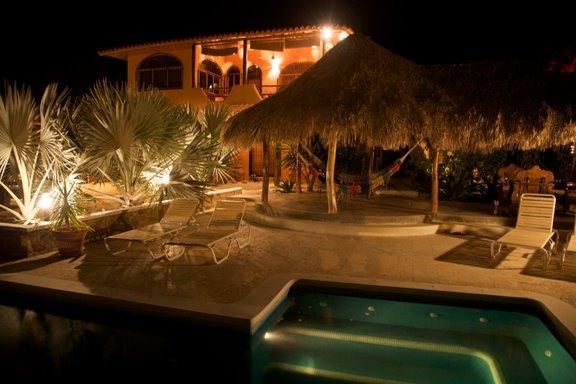 Casa Nora at night