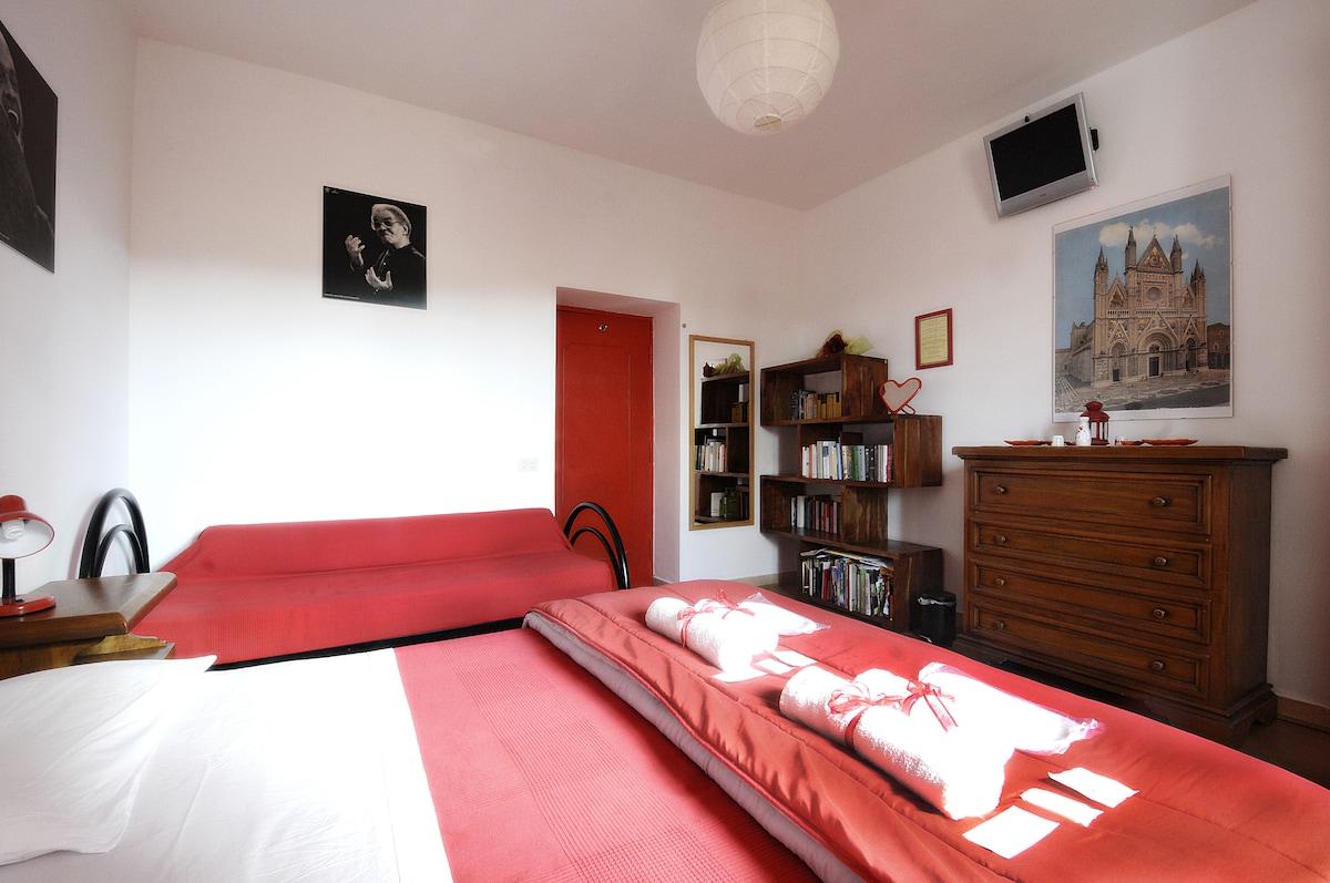B&B La Casa del Frenz Red Room