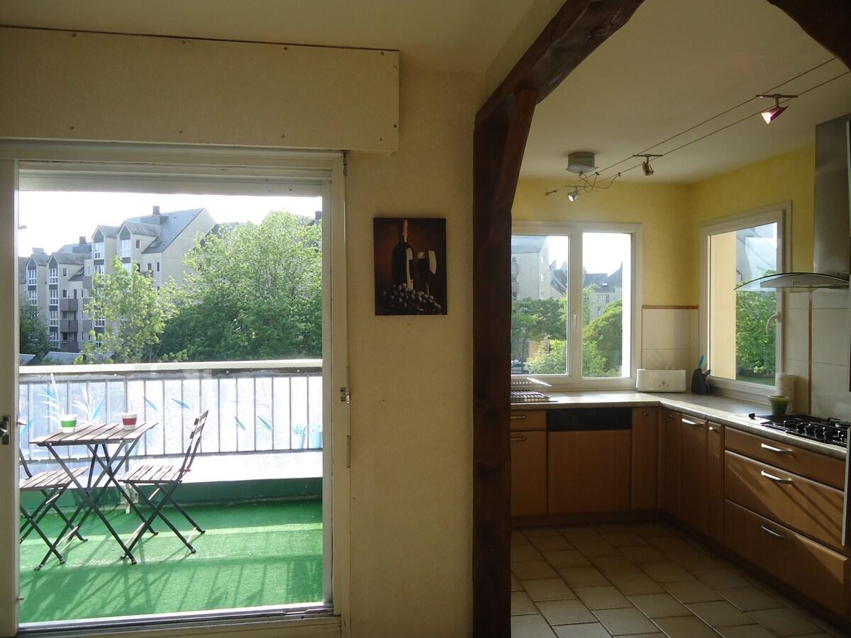Cuisine et balcon sont orientés sud ouest - belle luminosité