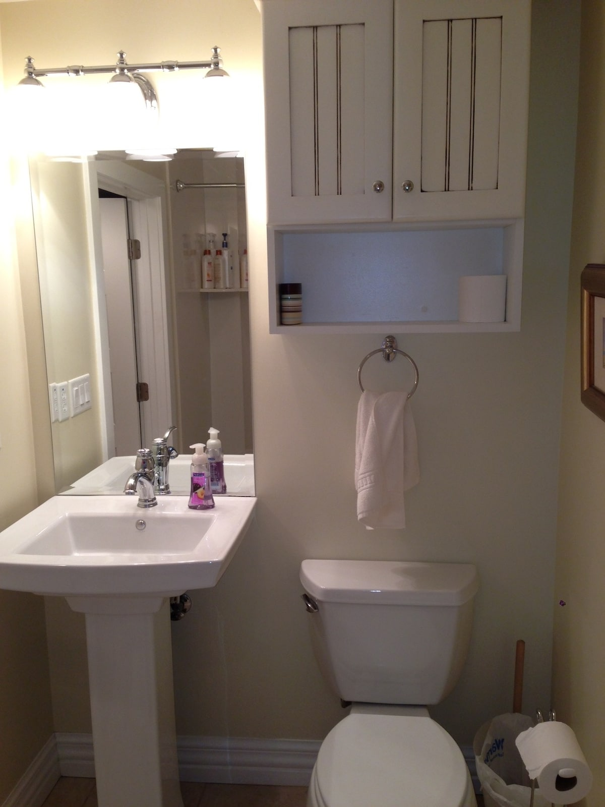 Brand new bathroom with supplies if needed.