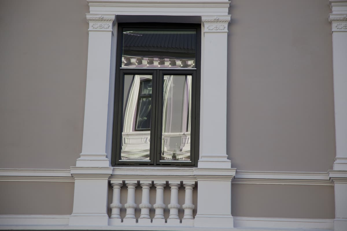 Detail from our beautiful building, put up in 1906.