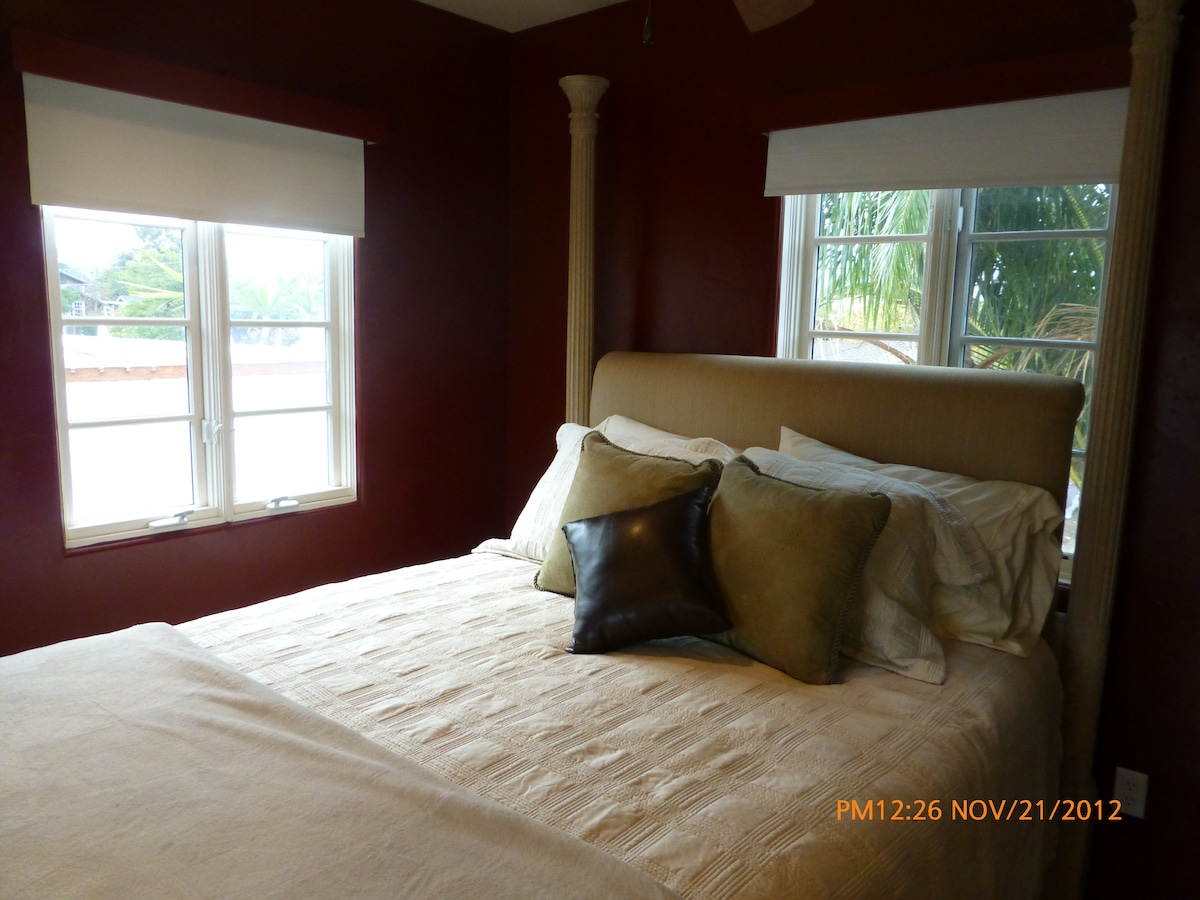 Super comfortable queen bed with beautiful views