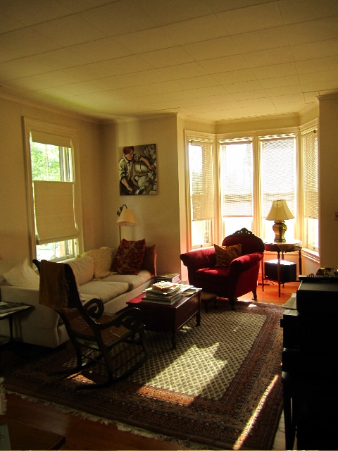 Living room with afternoon light