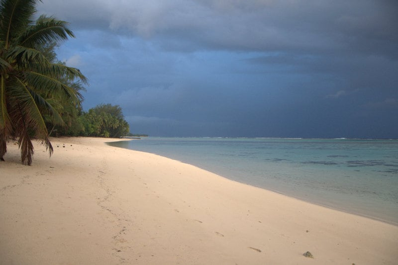 The beach in front of our house looks good even when the weather looks ominous...