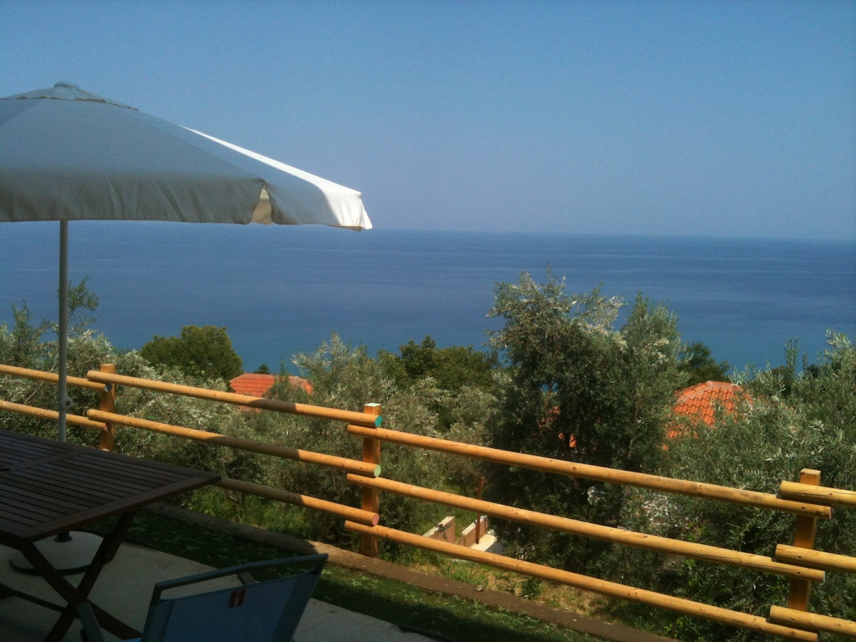 sea view from the villa terrace