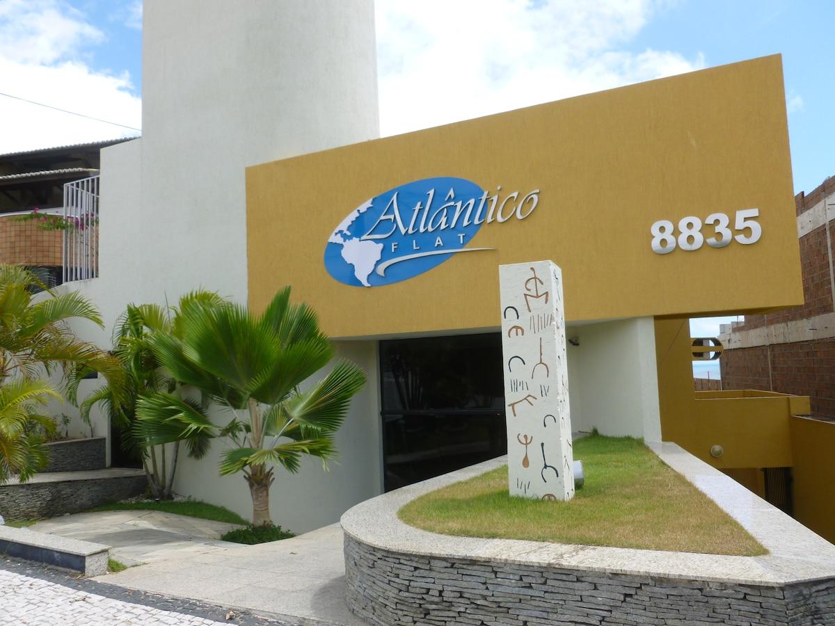 FACHADA DO CONDOMINIO ATLANTICO FLAT COM GARAGEM PRIVATIVA