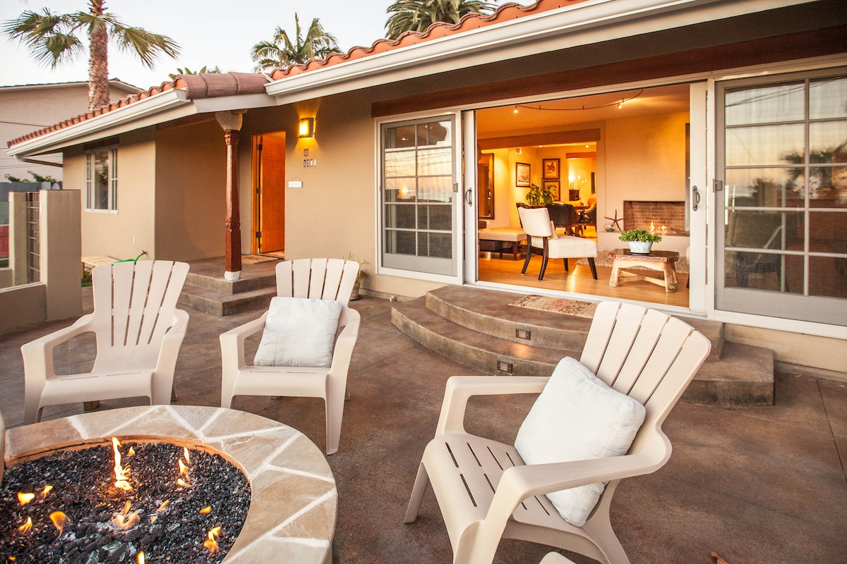 Entertaining Firepit Over Looking La Jolla and Pacific Beach Ocean & Sunset Views, Super Open Concept; Indoor and Outdoor Entertaining