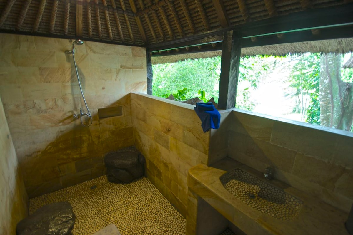 Upstairs bathroom in the treetops