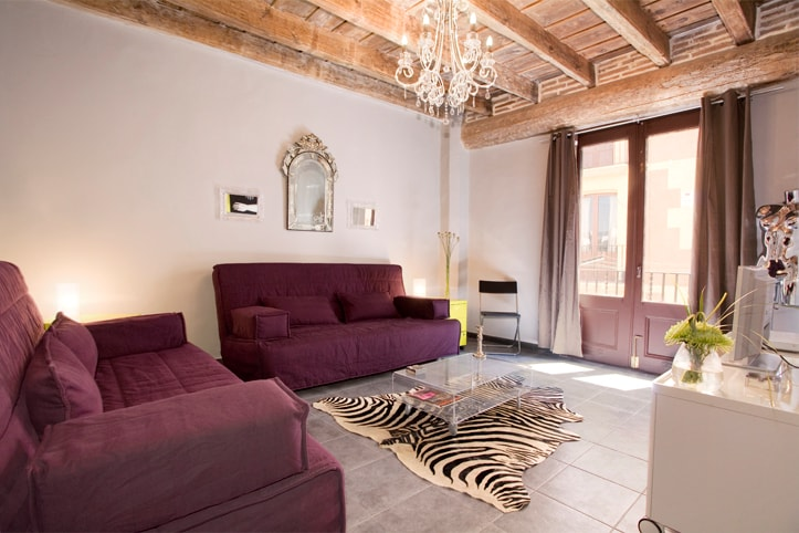 living room incl. 2 doble sofa beds