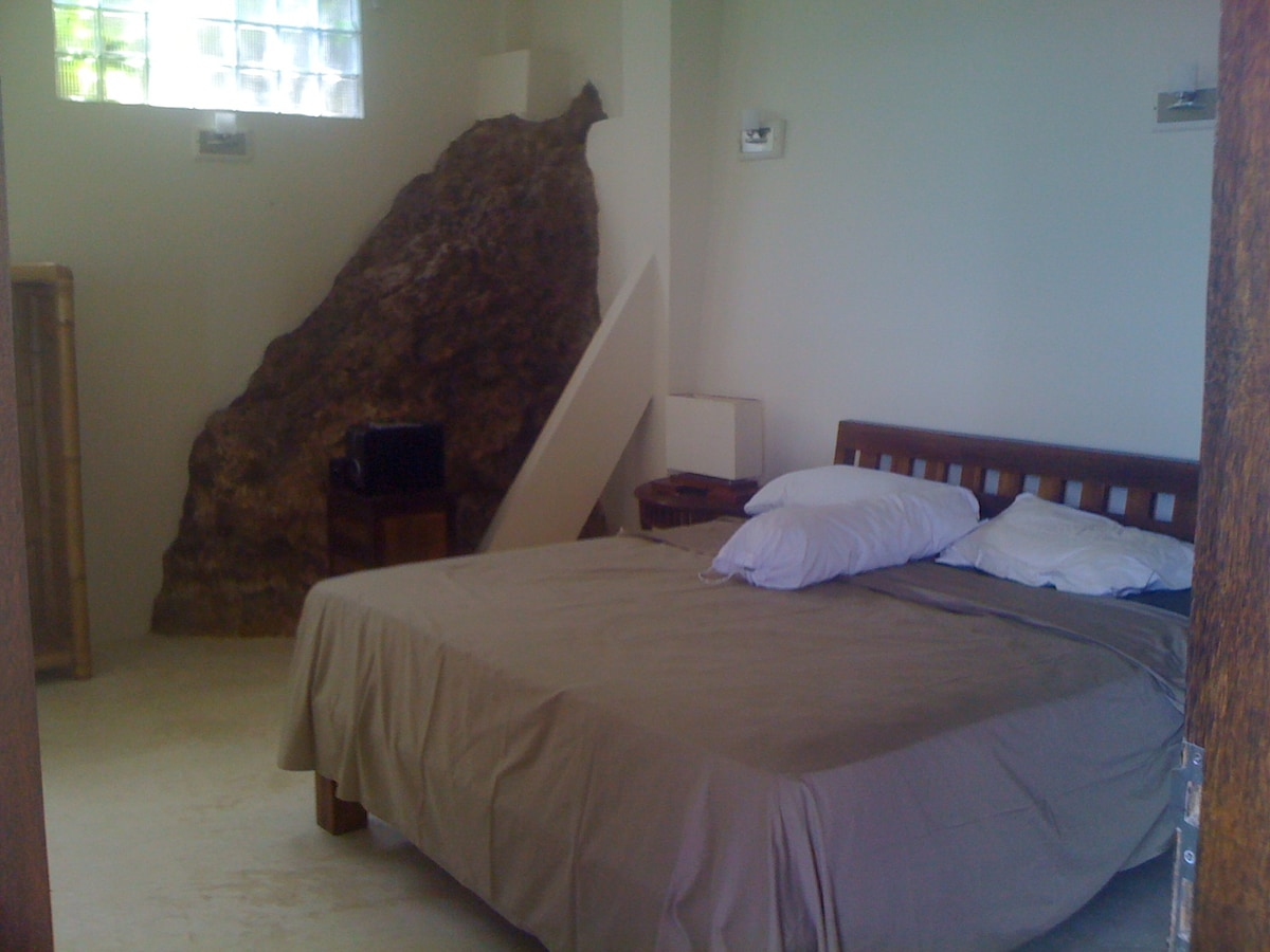 North side bedroom built into the rock
