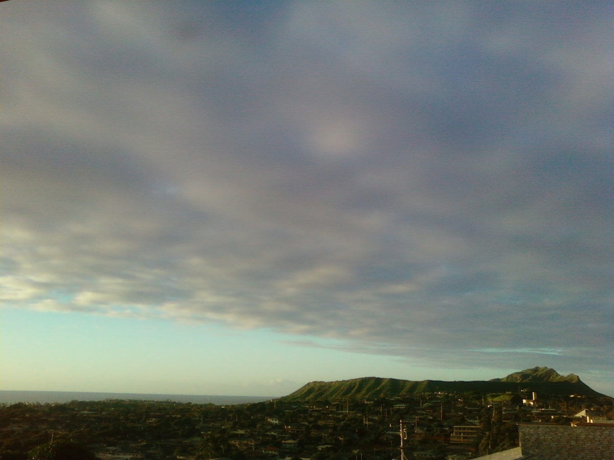 The is a typical early morning view from the lanai