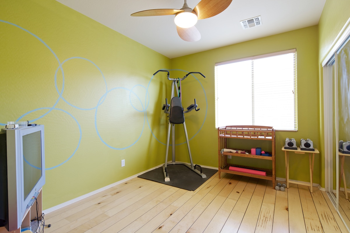 Get in shape during your stay! Private workout room with a number of DVDs (P90X, Yoga, Pilates, and more).