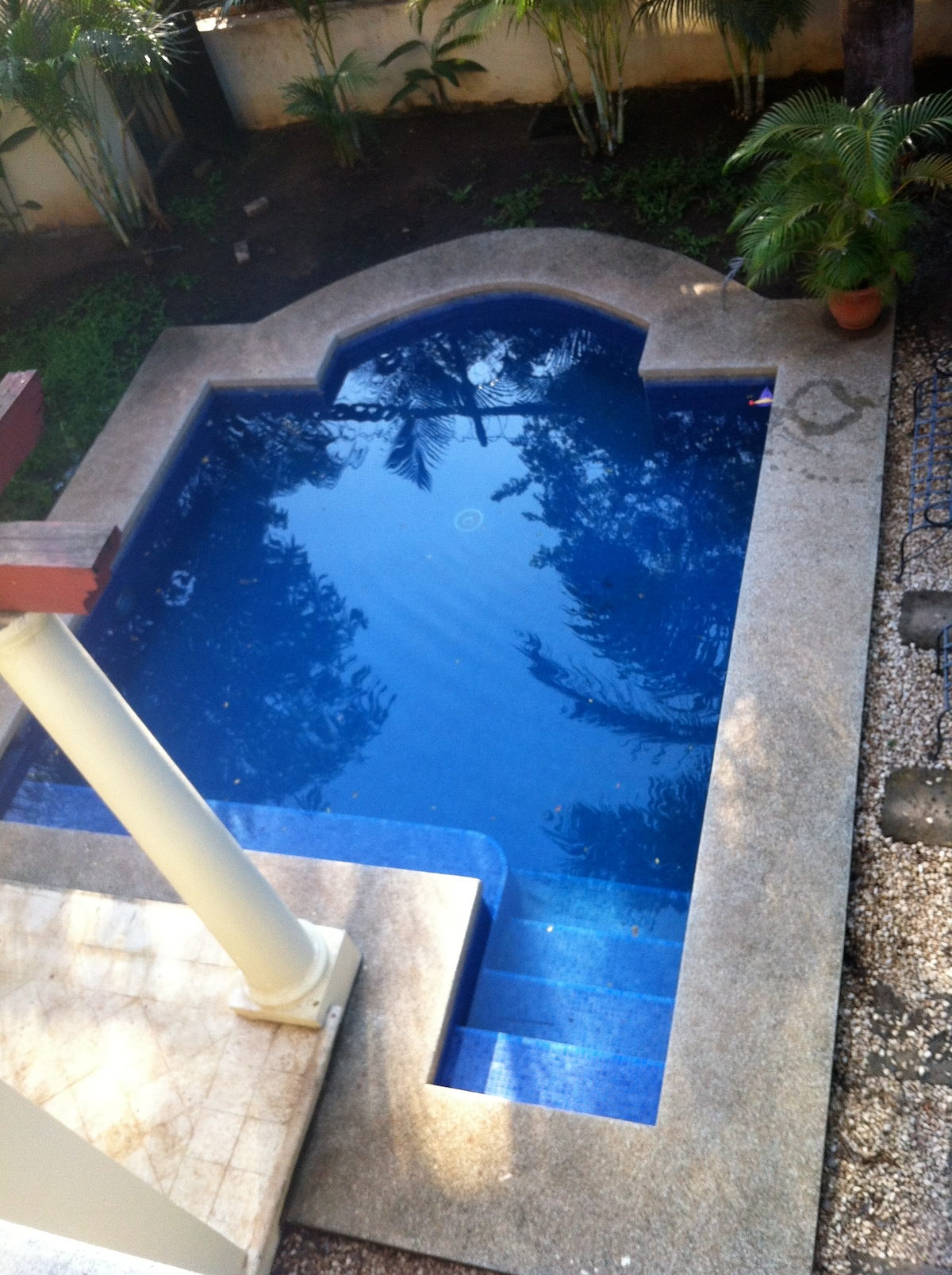 The plunge pool - so refreshing after a day at the beach.