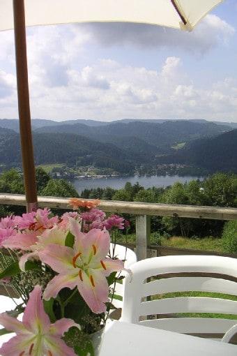 Vue sur le lac de Gérardmer depuis le balcon