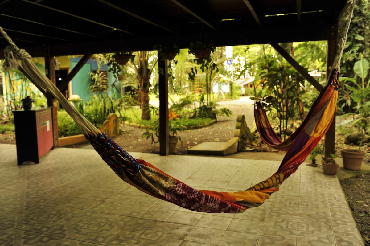 Lounge area with hammock