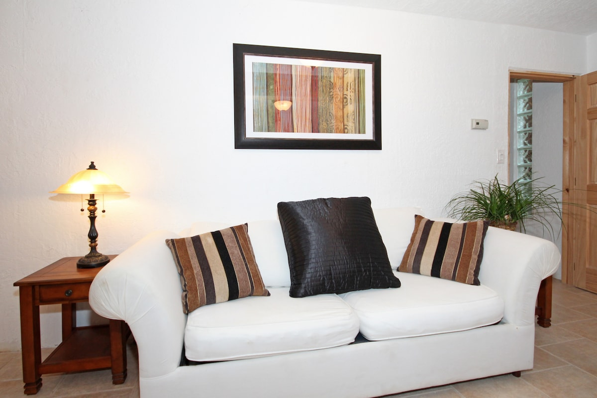 Sofa Bed,  folds out into a Full size bed with a comfortable mattress topper