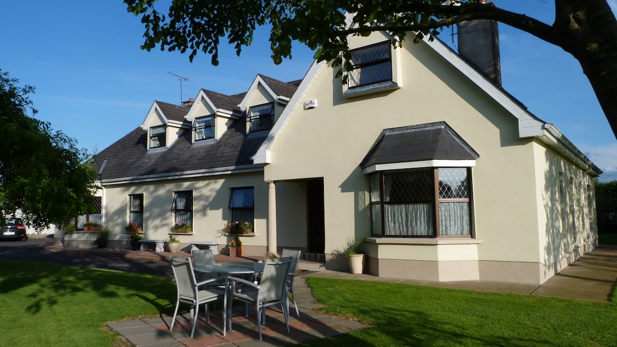 This is the main House from the outside. We have beautiful views of the surrounding countryside.