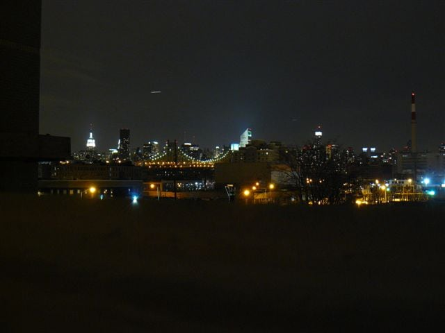 View from the roof at night
