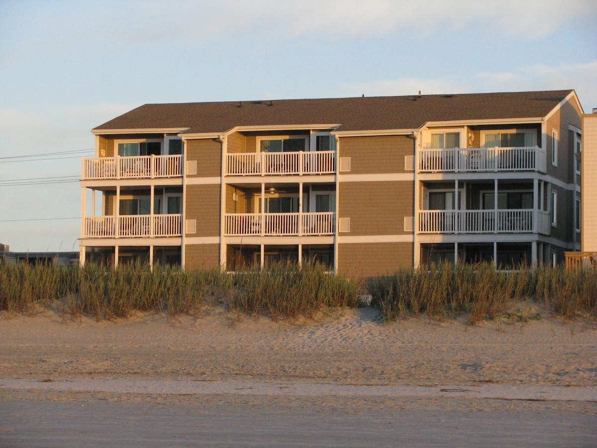 Beach Blessings is top center condo. Note balcony runs width of living room & master bedroom
