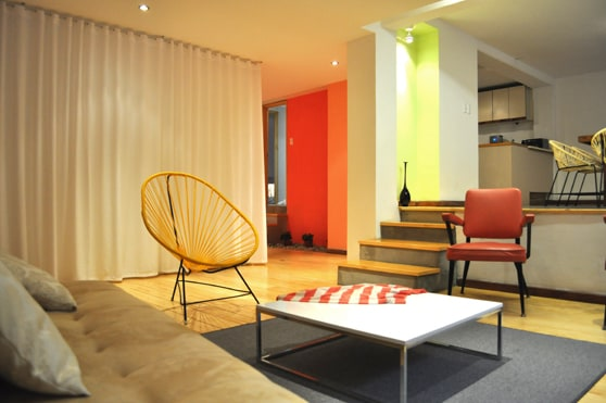 Aptartment 101 is a colorfull blend of comfort and nostalgia located in the trendy neighborhood of Condesa.