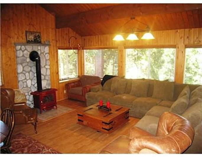 Large Living room in front of Wood Stove