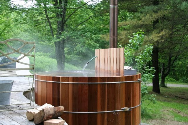 Wood Fired Hot Tub - Best in Winter.  Takes time to get going, but soooo worth it!