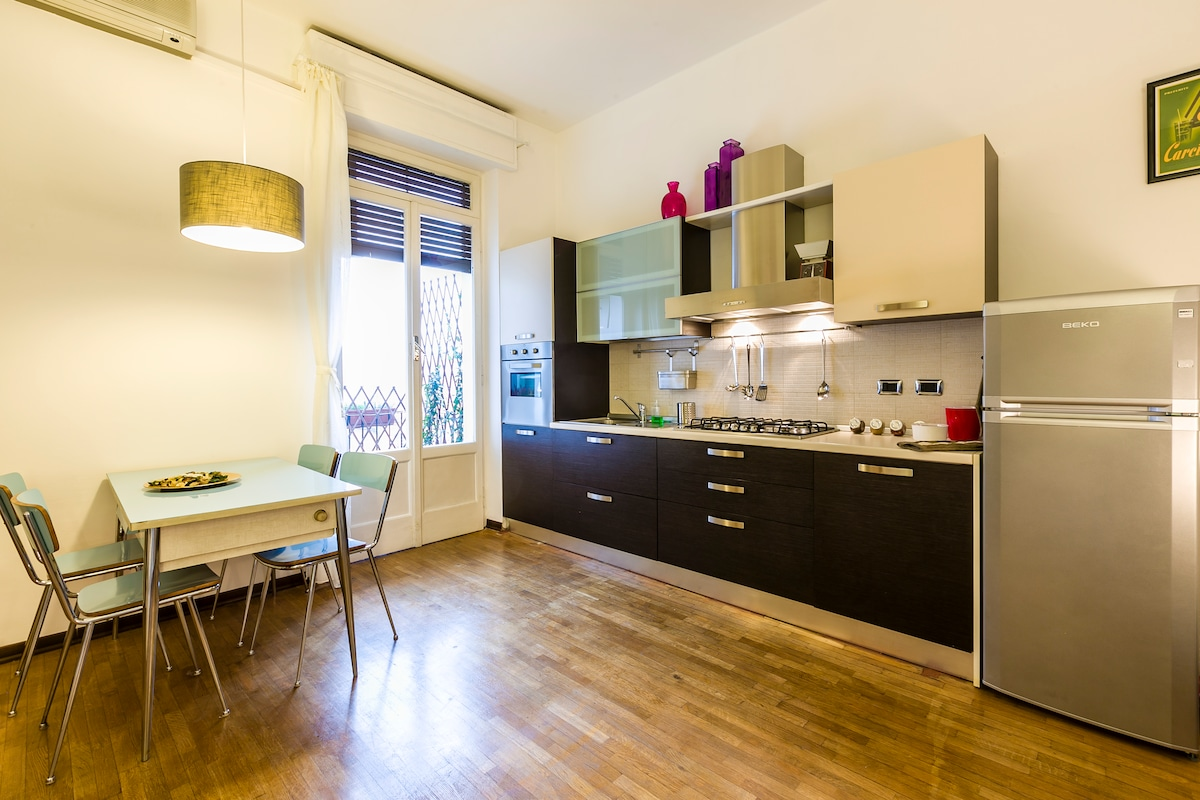 "kitchen area, old table with original equipment to prepare typical ""sfoglia"""