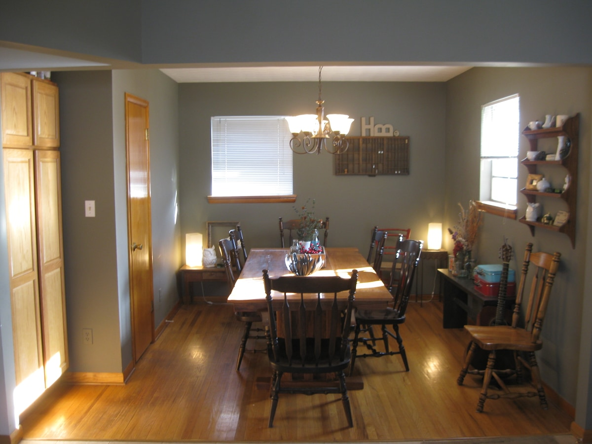 Dining room (opposite the kitchen)- Comfortably seats at least 8.
