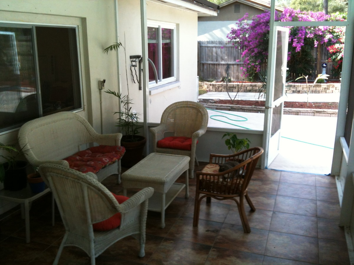patio,  if you want to sit outside and enjoy the fresh air