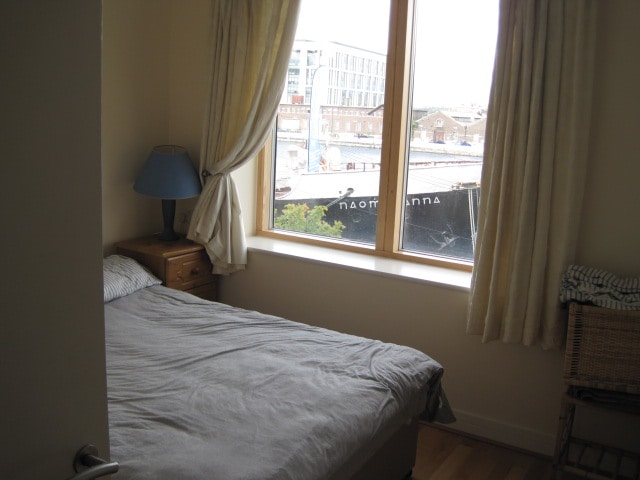 Bedroom with canal view