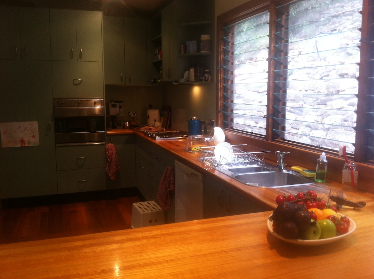 bring some supplies to self cater, and make use of the spacious shared kitchen