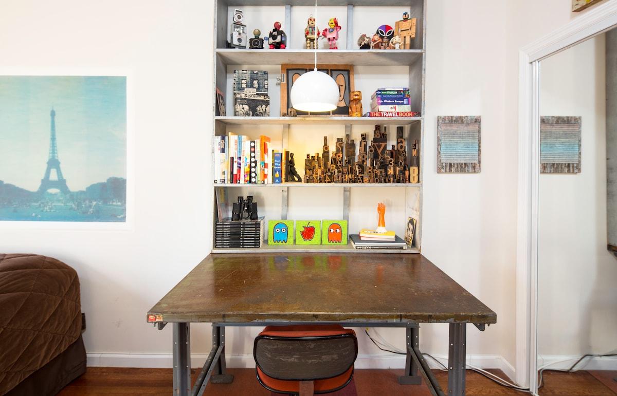 YOUR BEDROOM: Desk in private bedroom.