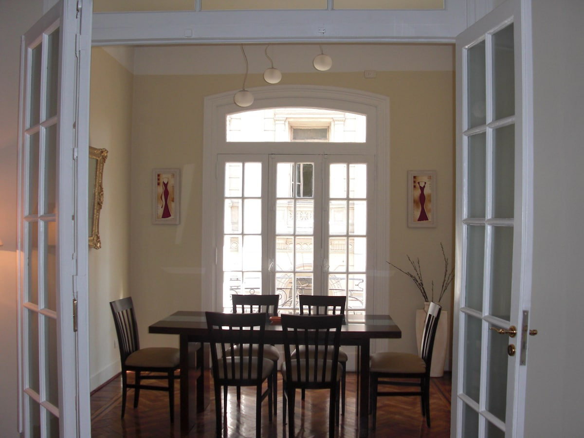 View of Dining room from the Living room