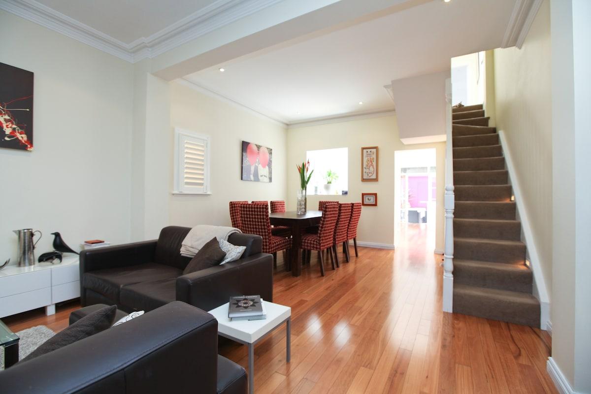 Typical Sydney modern terrace living