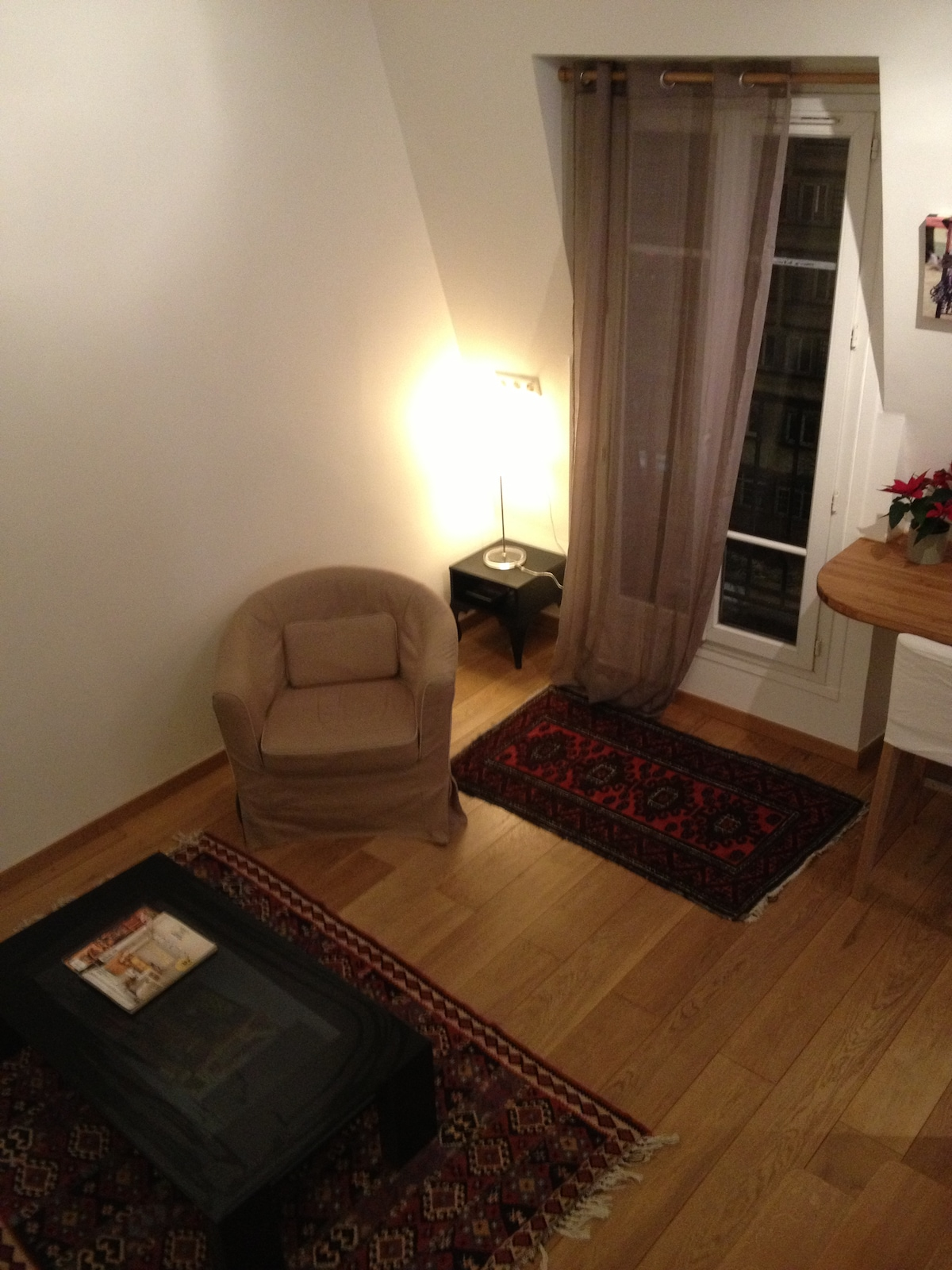 Spacious studio with mezzanine