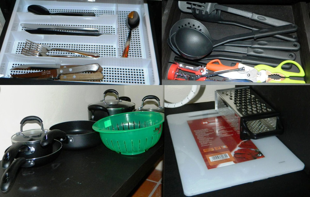 Full variety of cooking hardware