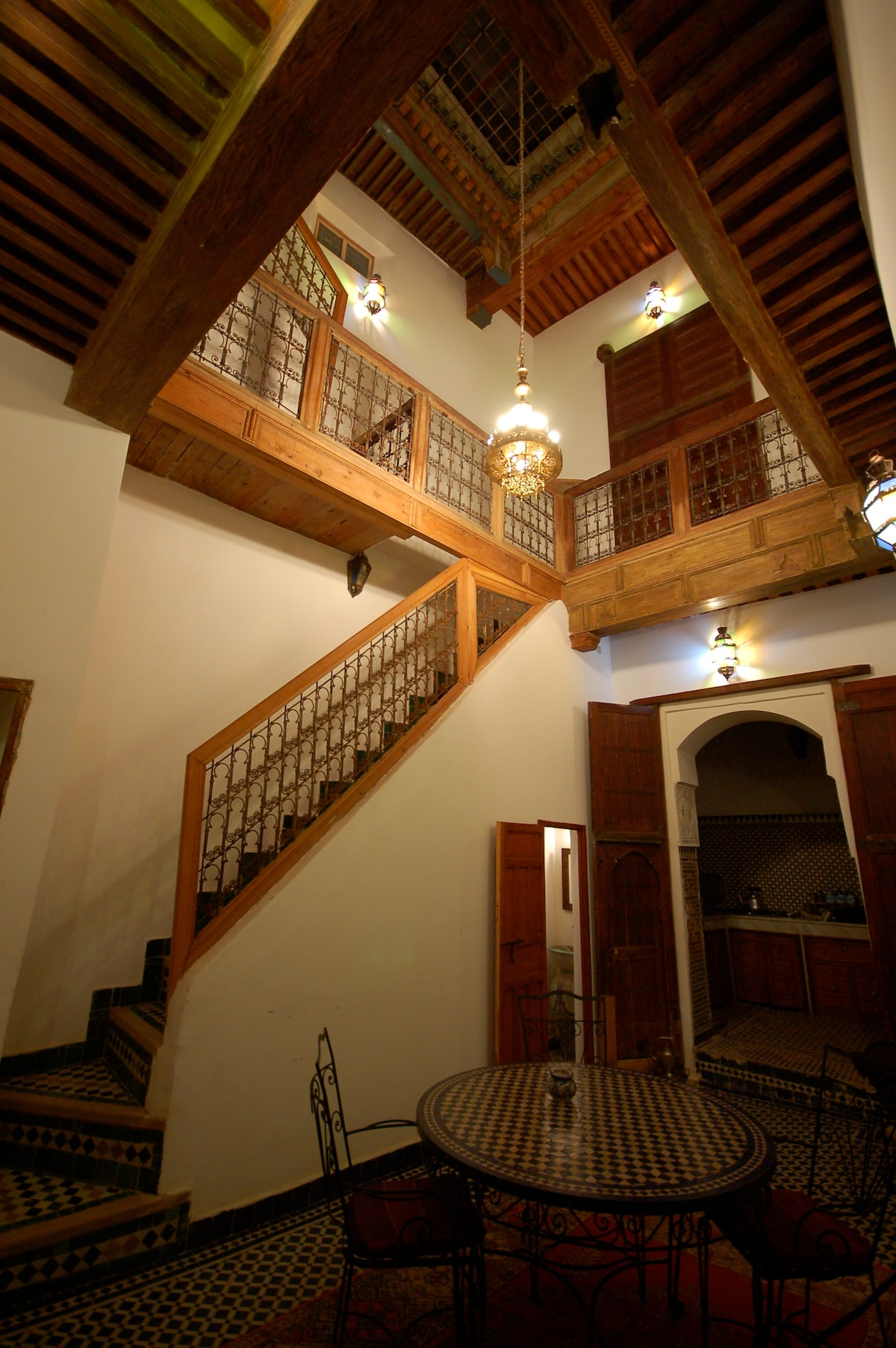 patio and stairs